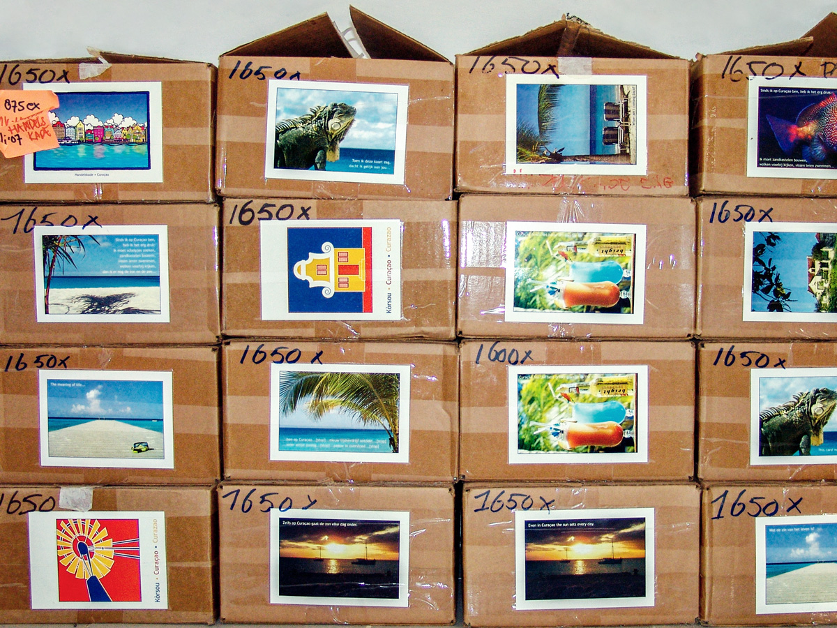 boxes with postcards // 2007