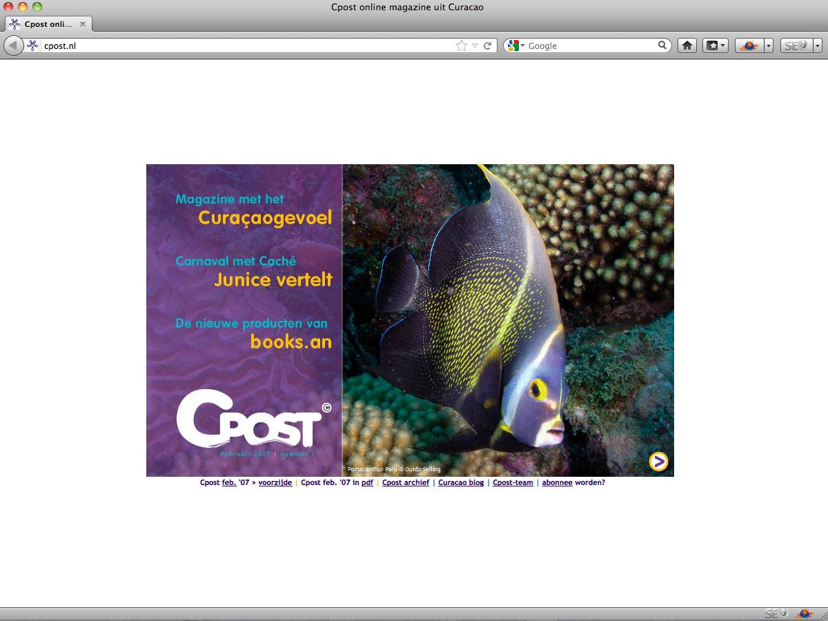 Screenshot Cpost February 2007