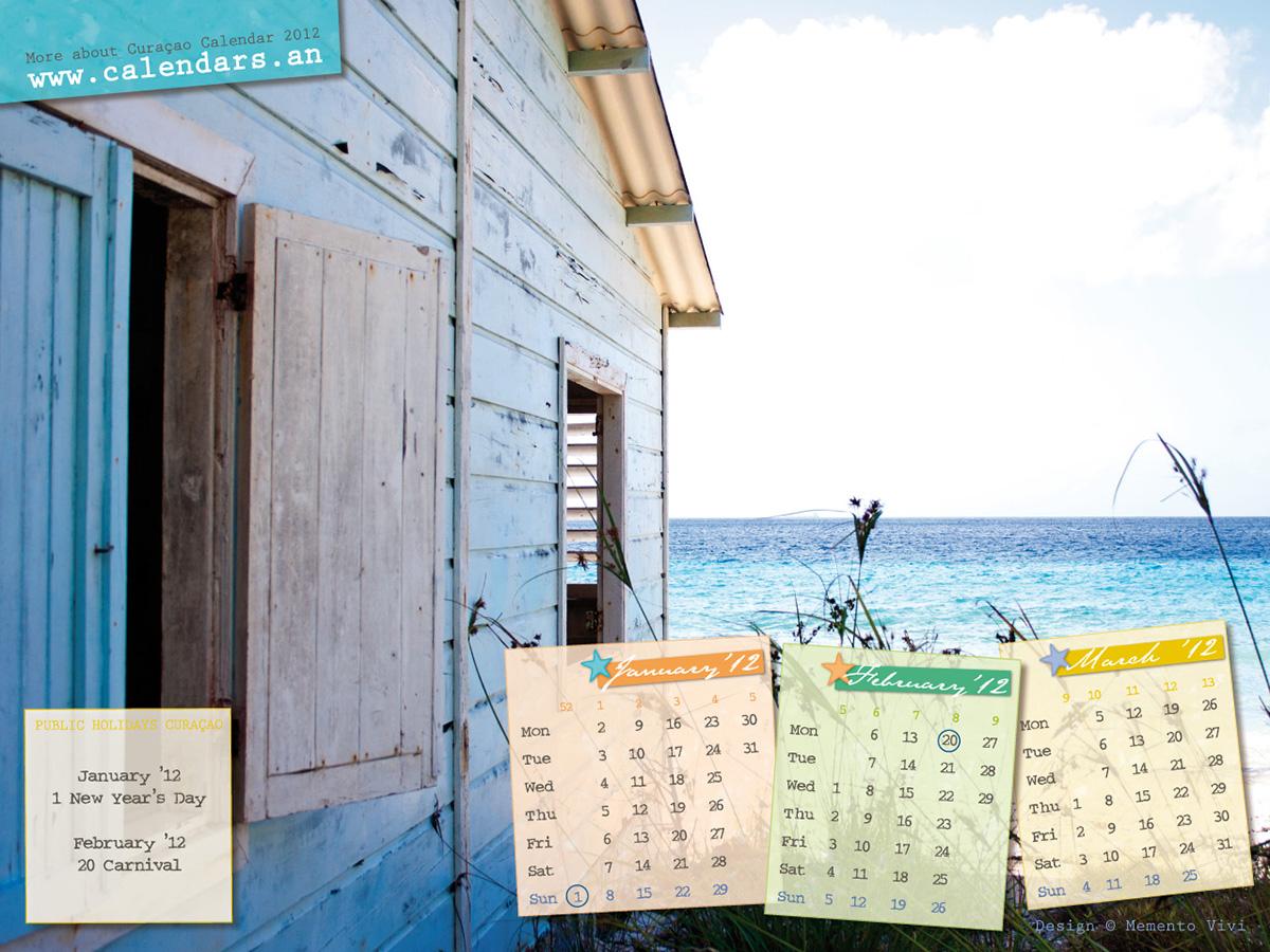 Playa Hunku Curaçao with Calendar 2011
