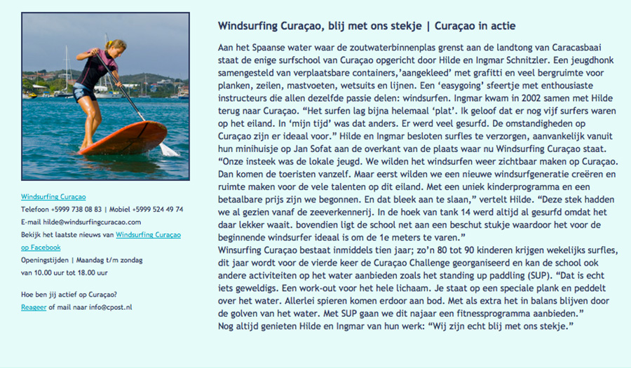windsurfing on Curaçao page 13a