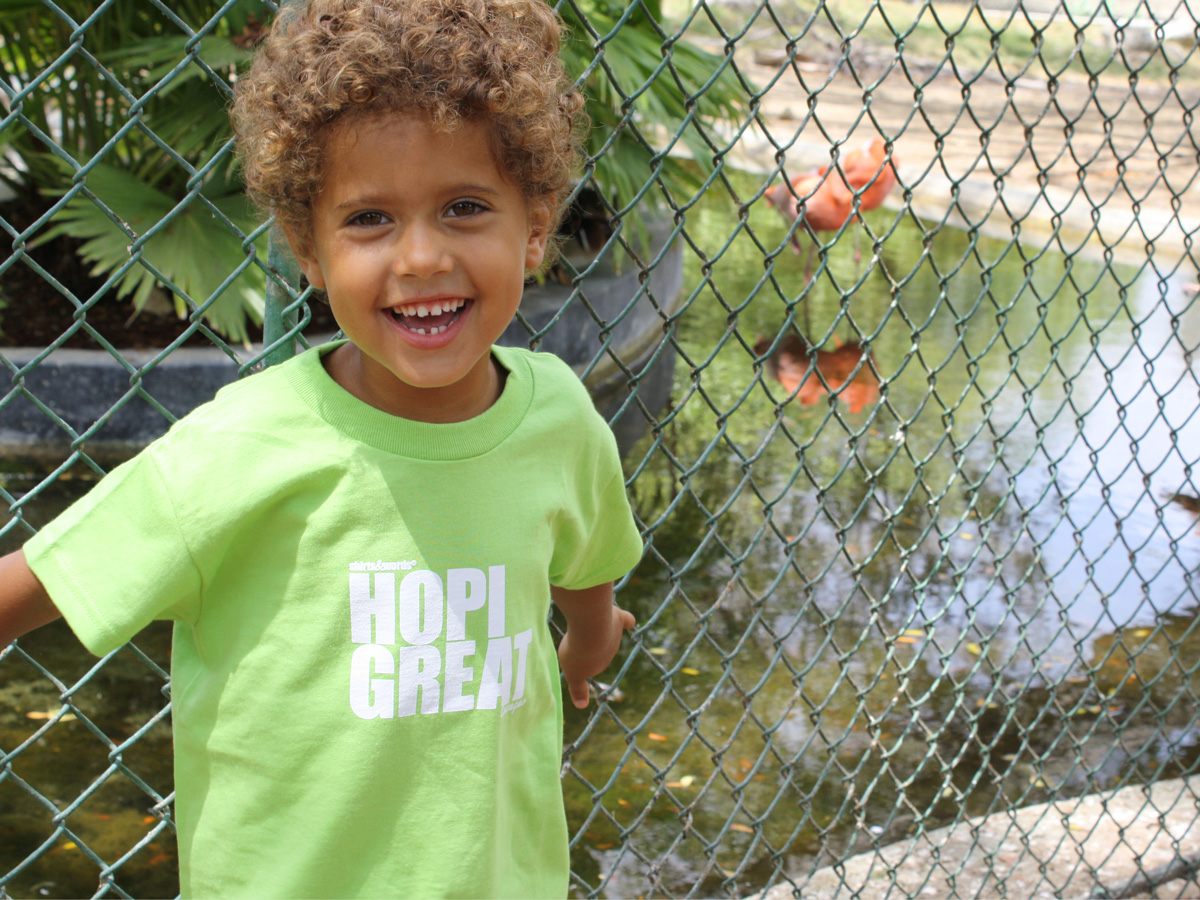 boy at zoo Curacao