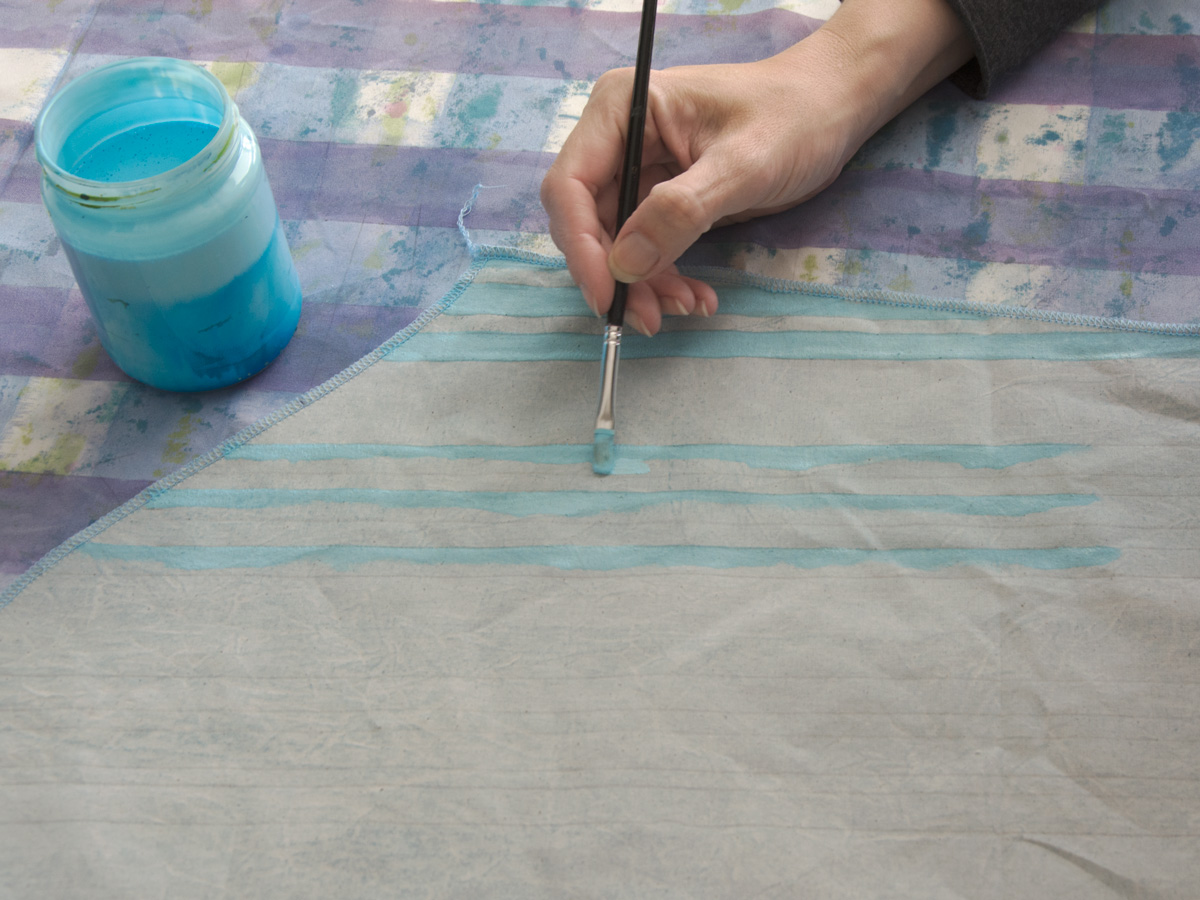 painting fabric by hand