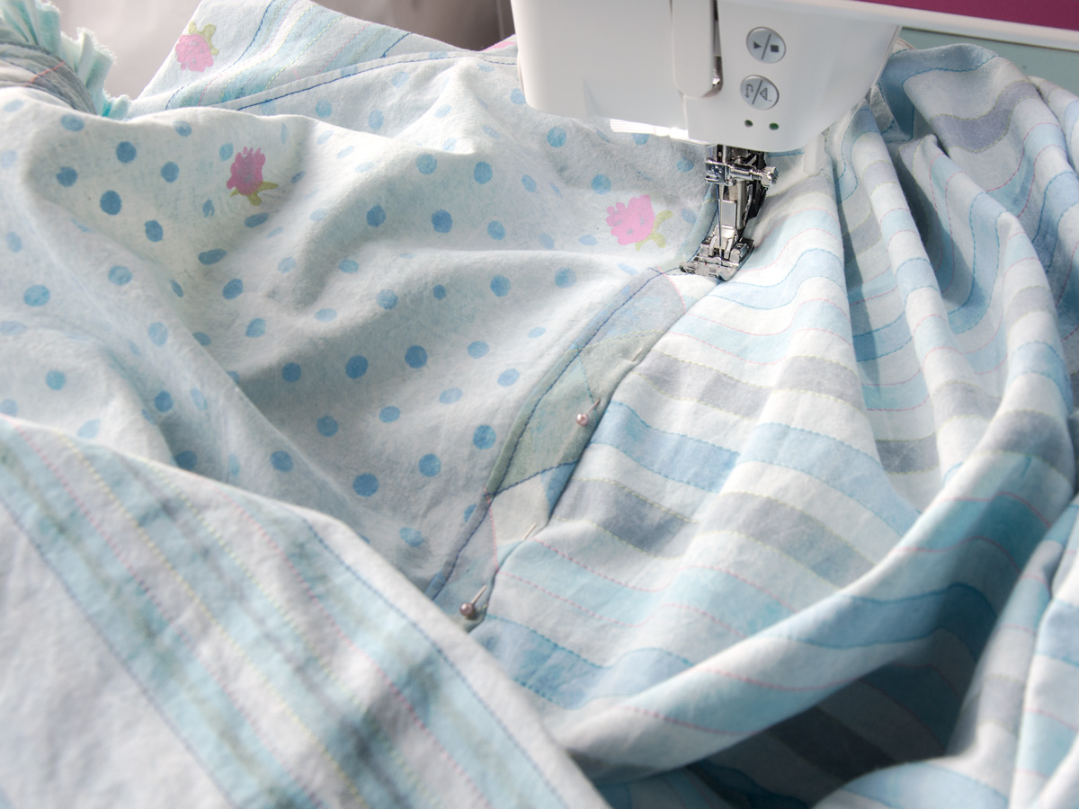 dress and sewing machine