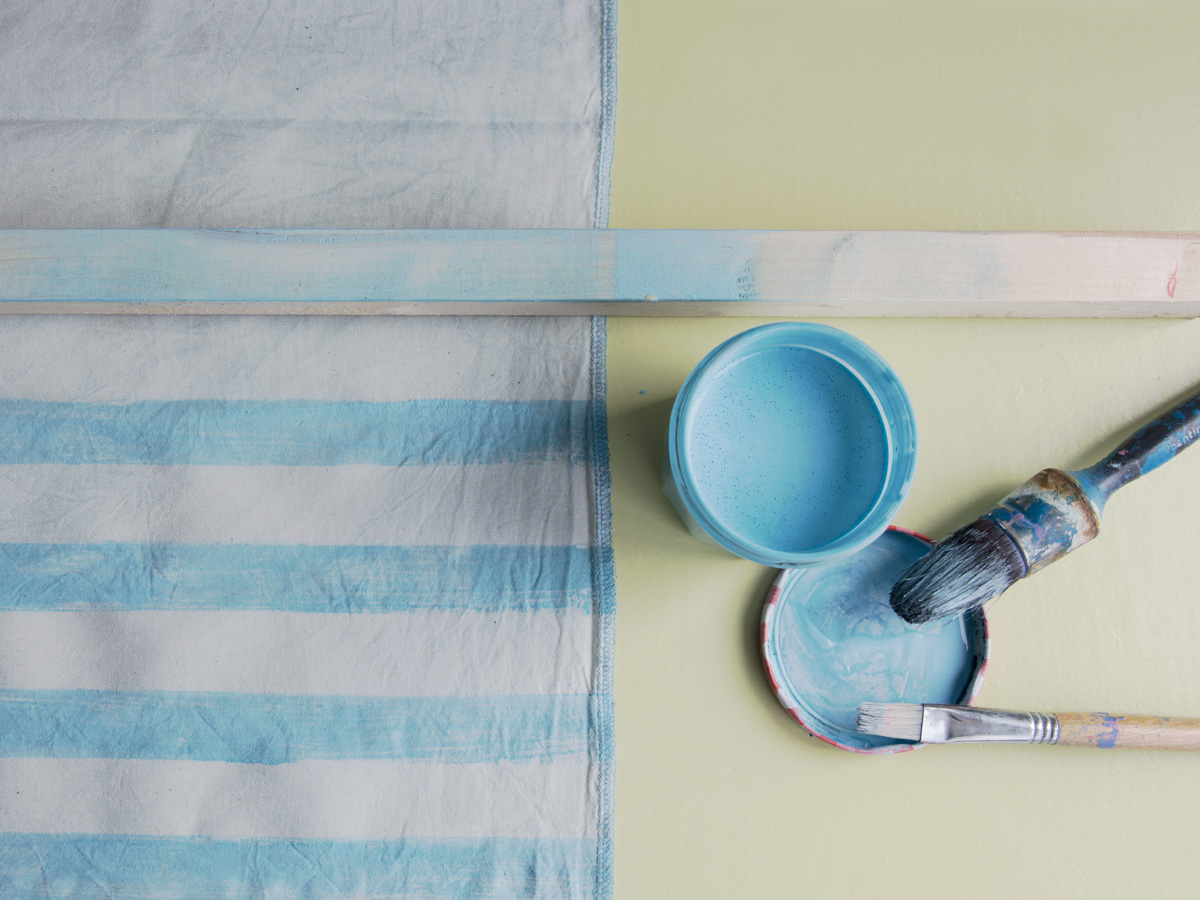 timber, paint and striped pattern