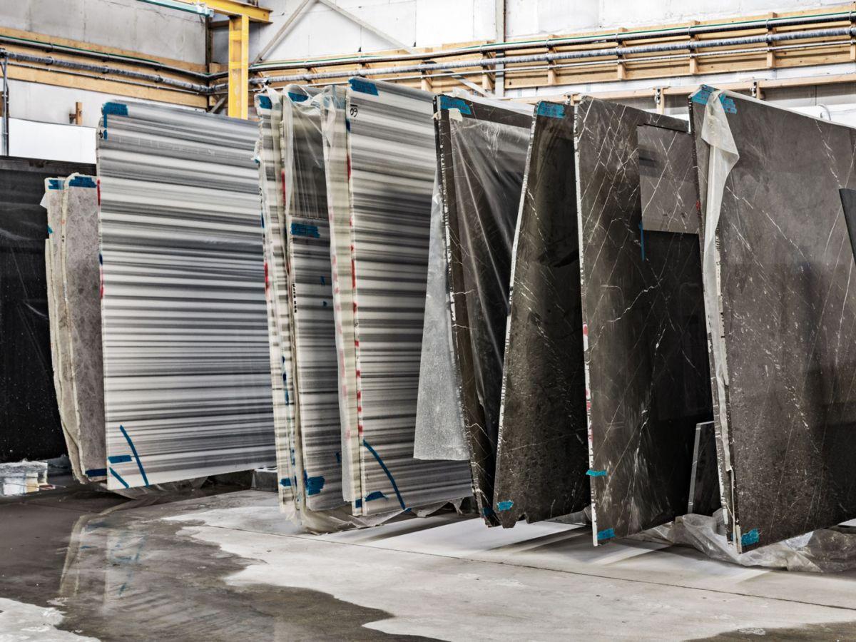 Workshop stone slabs