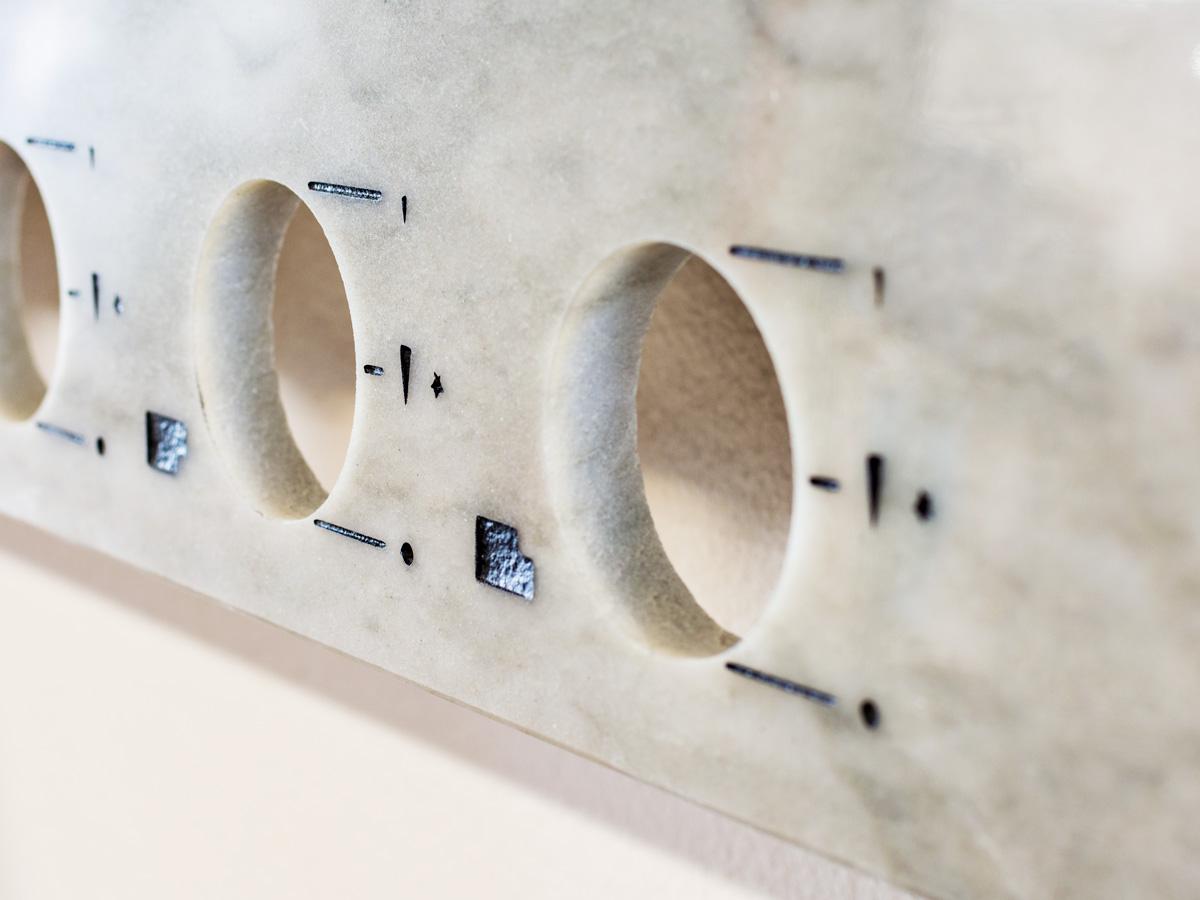 Natural stone kitchen stove-labels