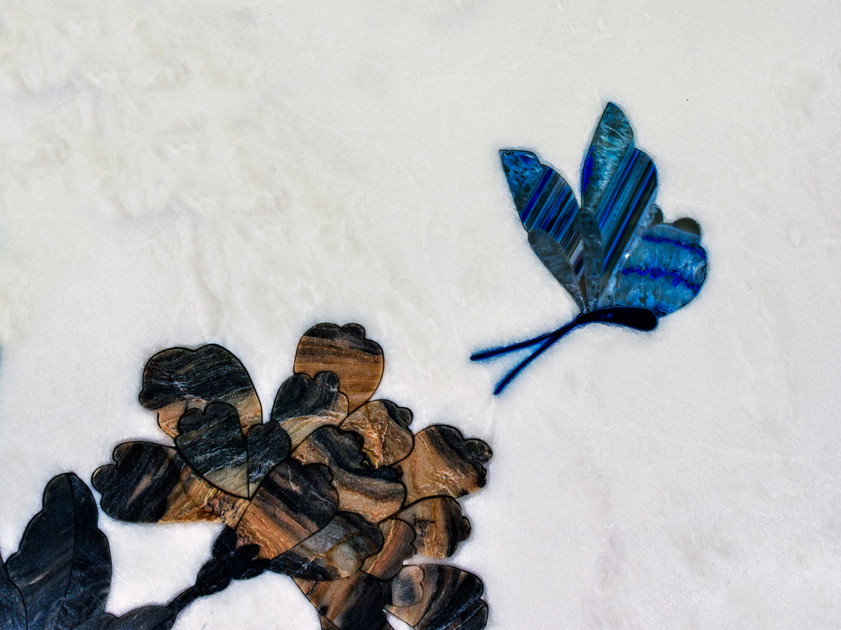 stone inlay butterfly