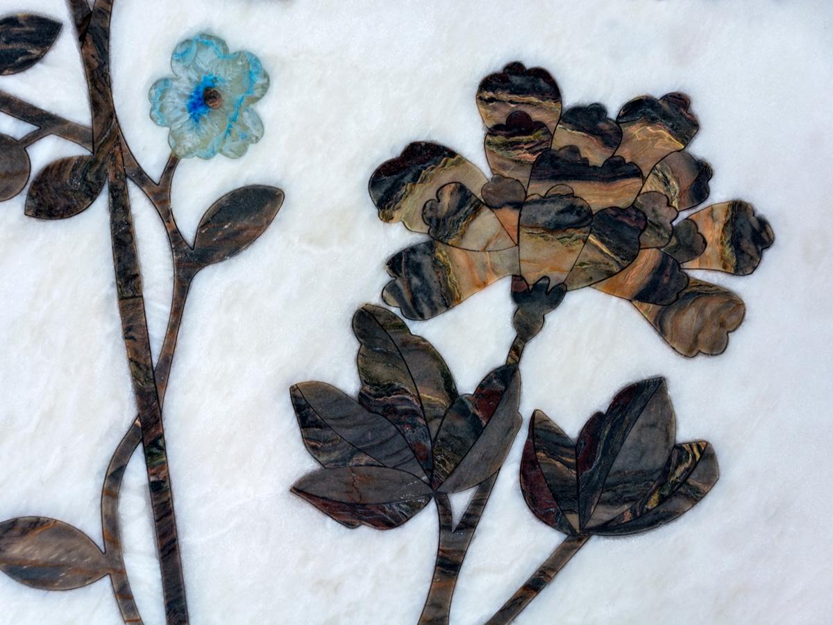 stone inlay flower