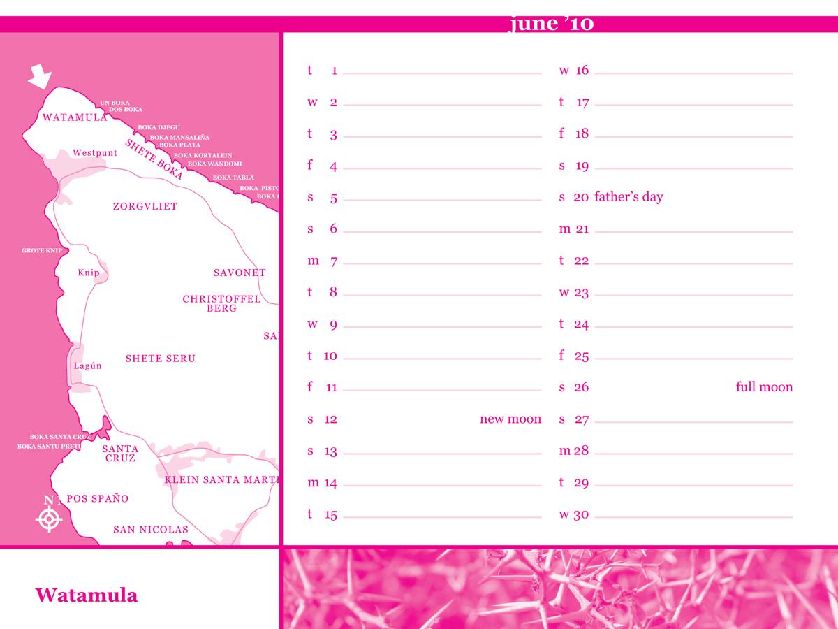 backside of June page