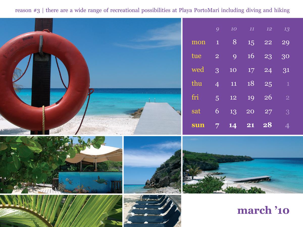 Calendar 2010 March Porto Mari