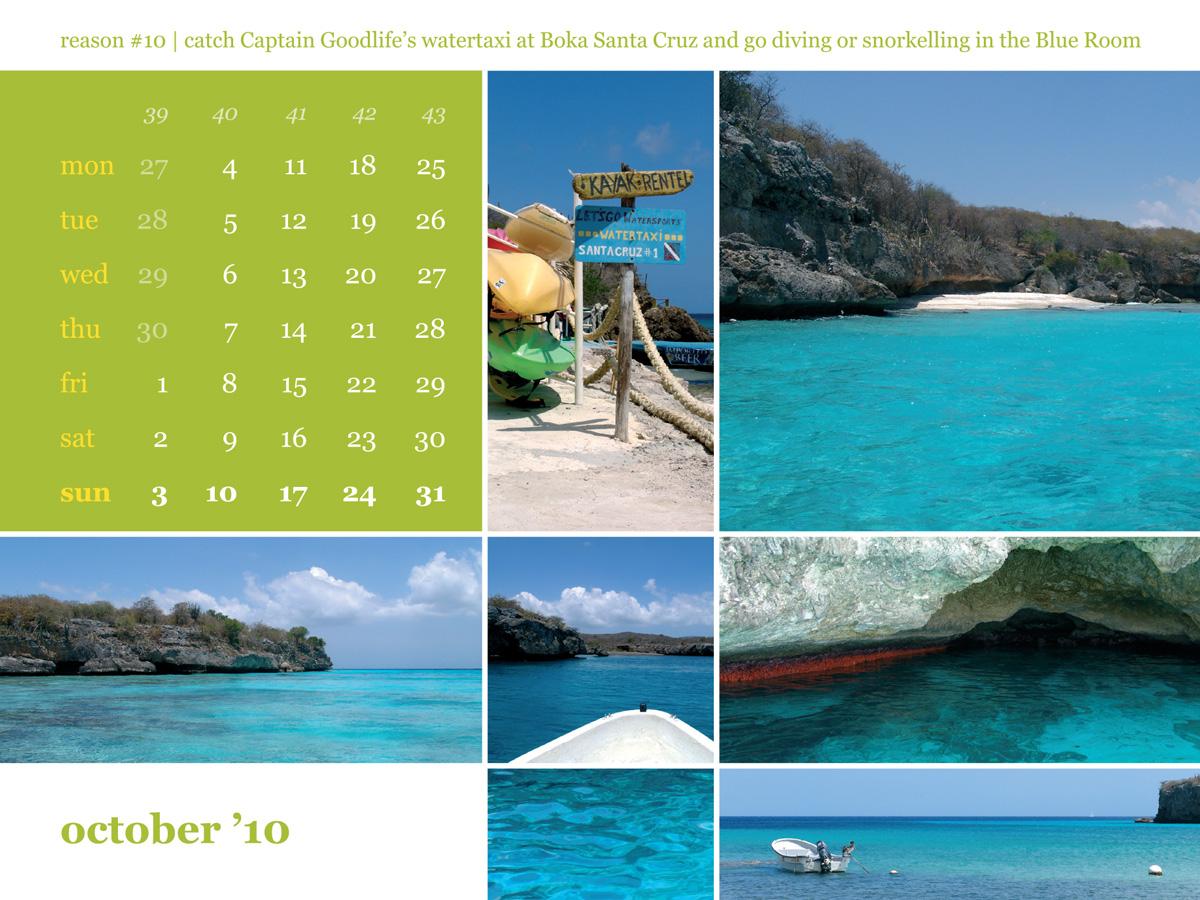 Calendar 2010 October Blue room