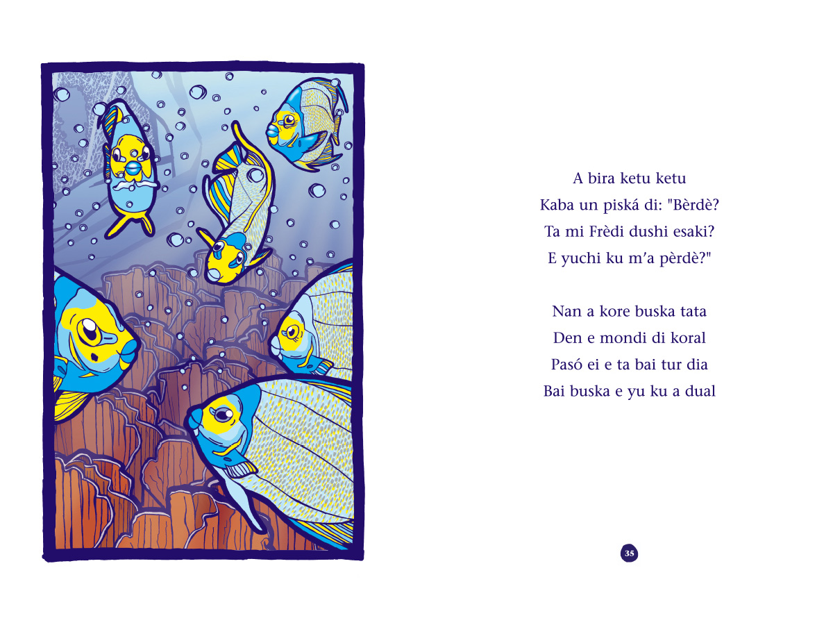 Picture book Piskechi pages 34 and 35