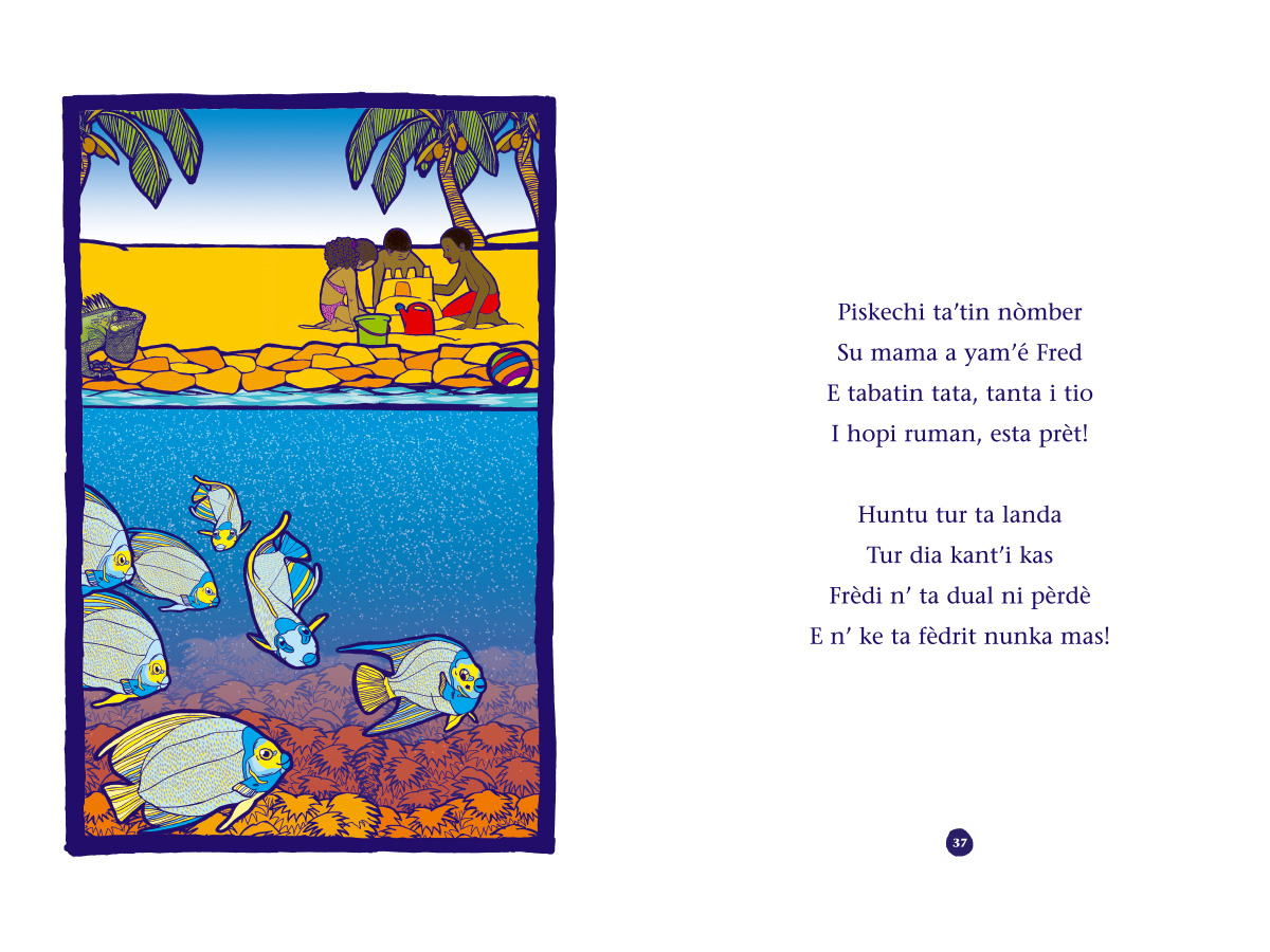 Picture book Piskechi pages 36 and 37