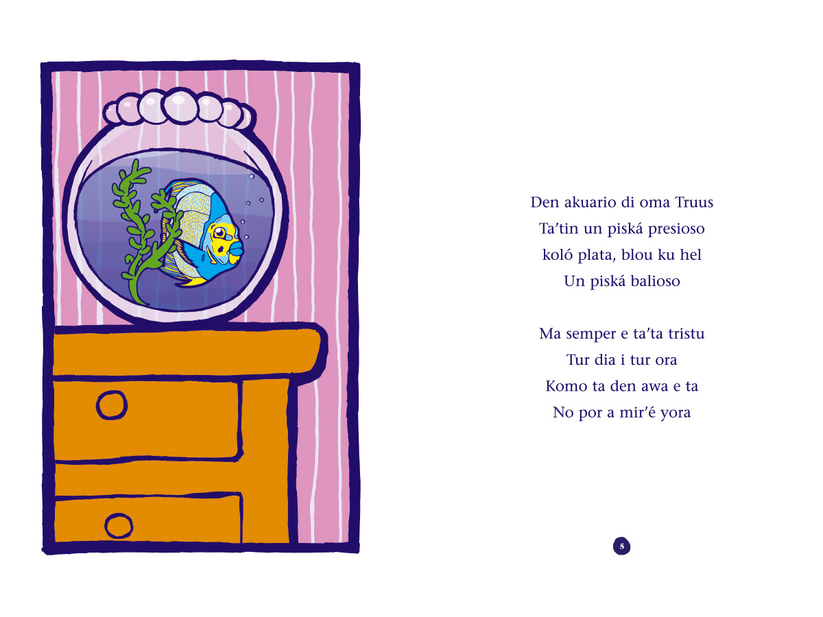Picture book Piskechi pages 4 and 5