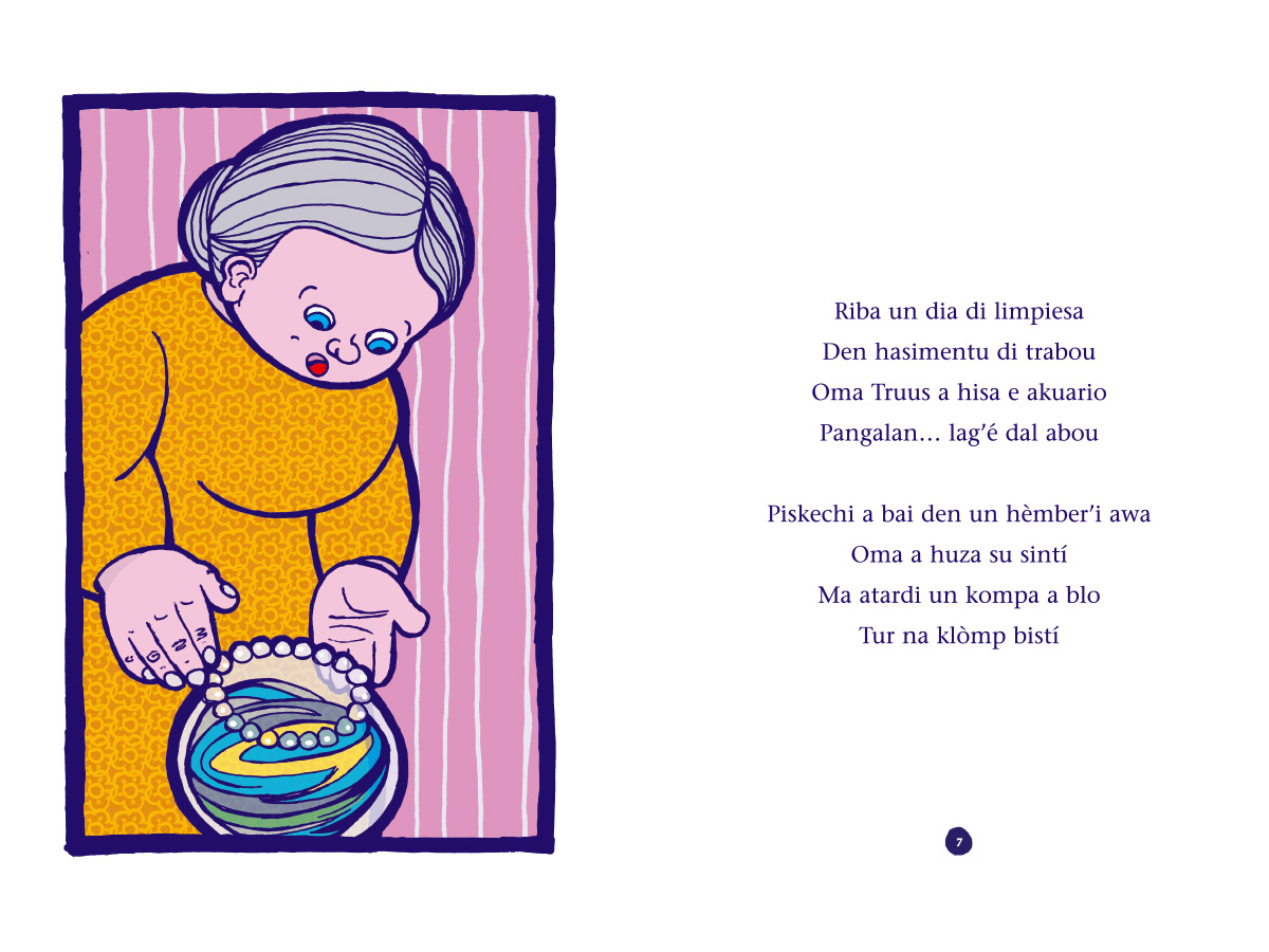 Picture book Piskechi pages 6 and 7
