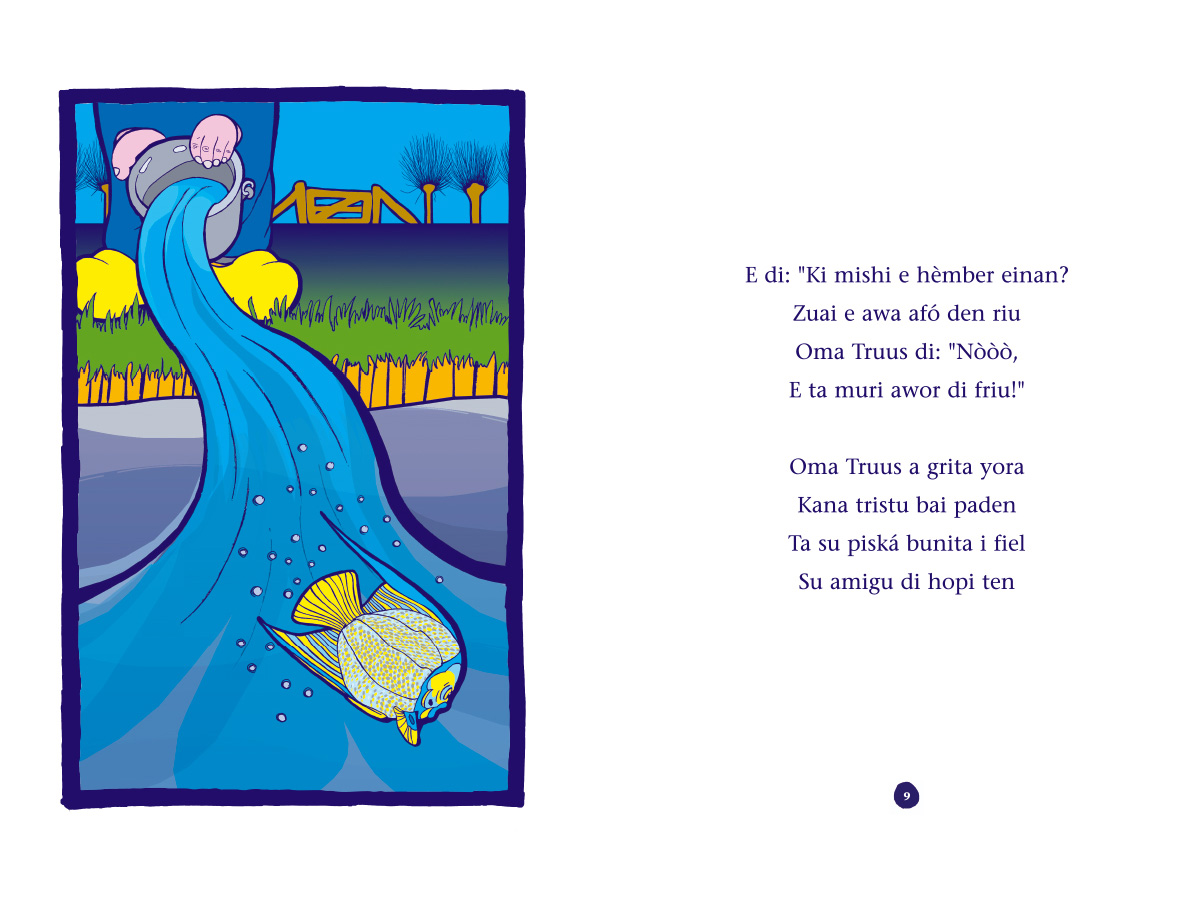 Picture book Piskechi pages 8 and 9