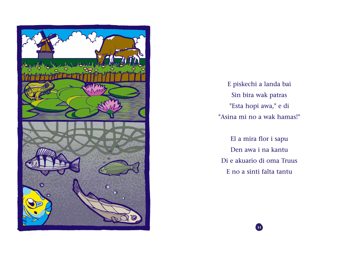 Picture book Piskechi pages 10 and 11