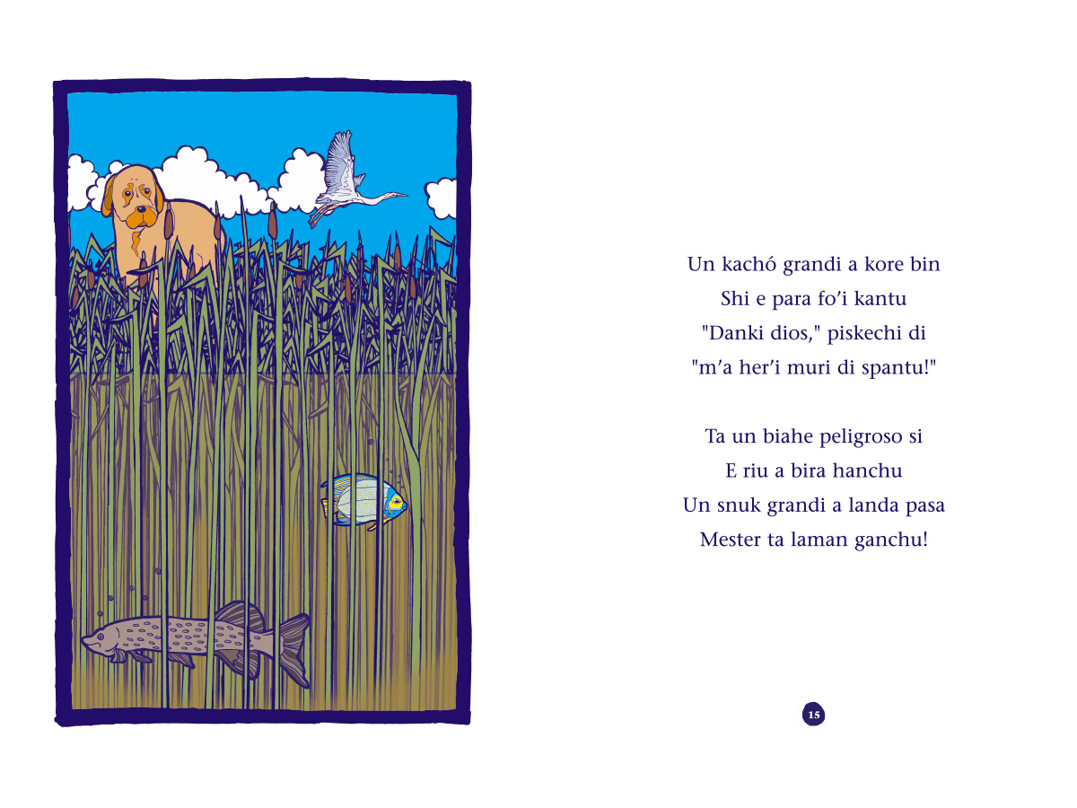 Picture book Piskechi pages 14 and 15