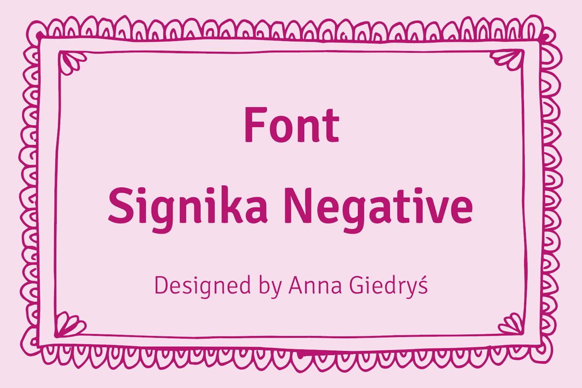 Font Signika Negative