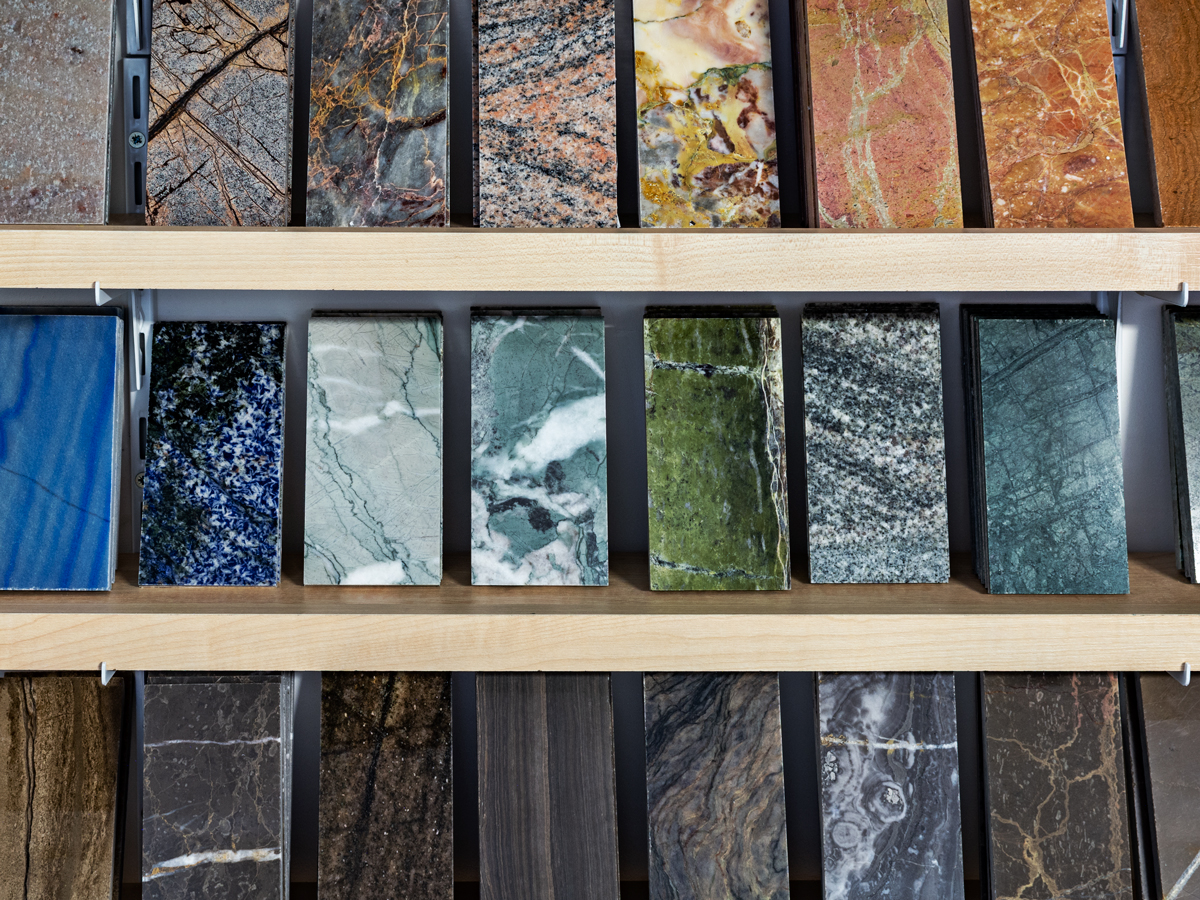 Samples of natural stone