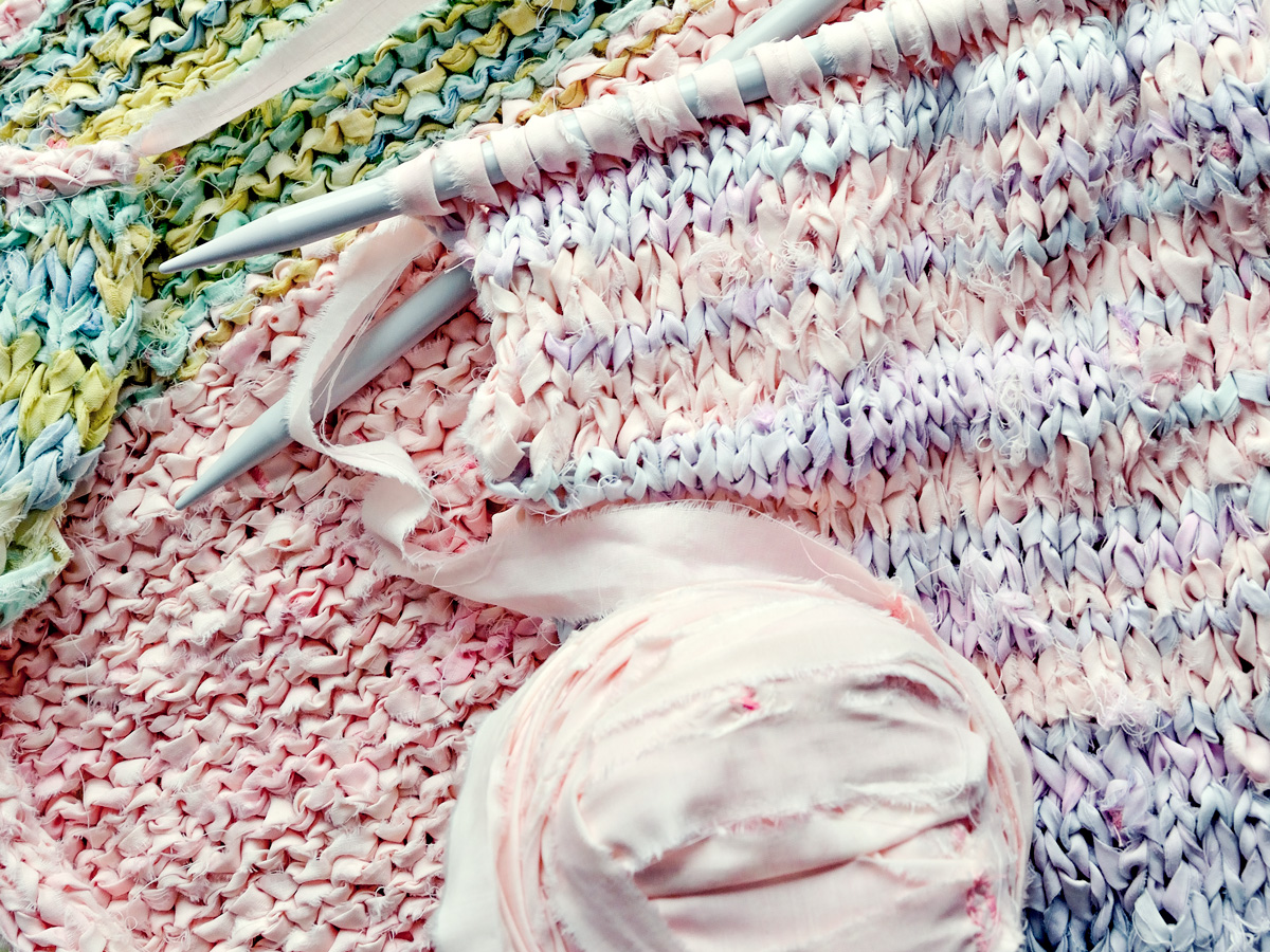 knitting with fabric strips
