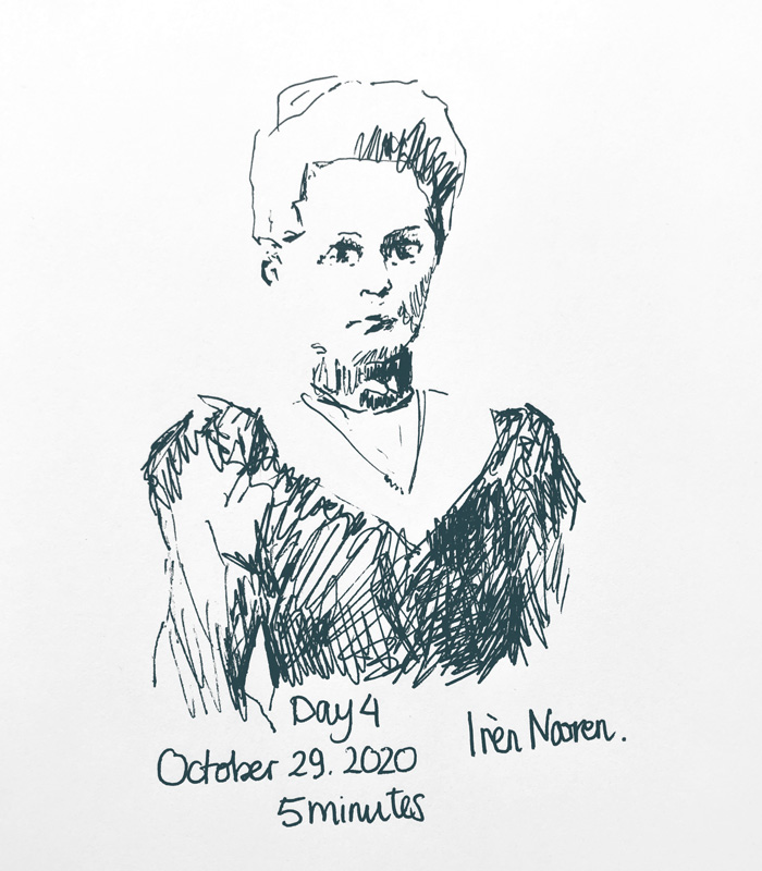 Pen drawing Great-grandmother-20201028