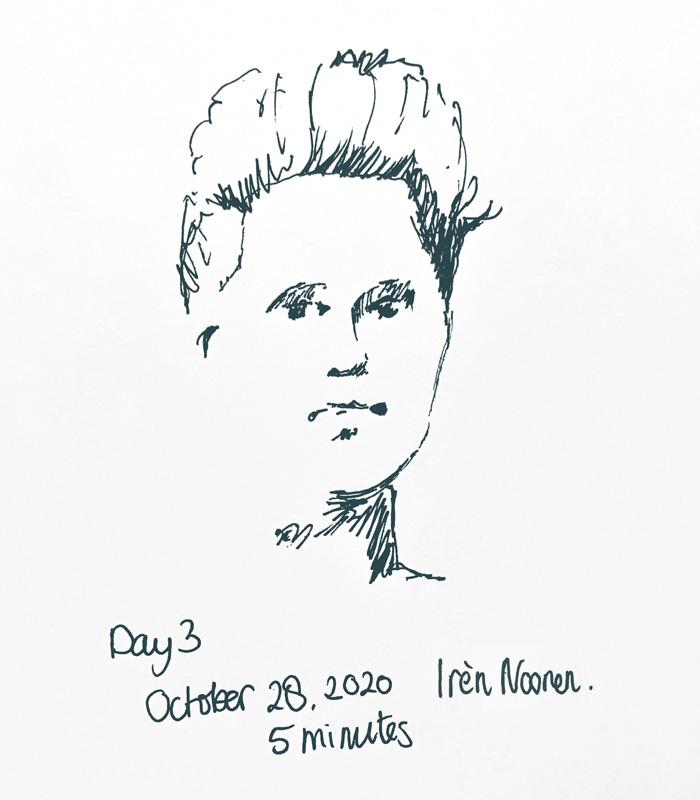 Pen drawing Great-grandmother-20201028