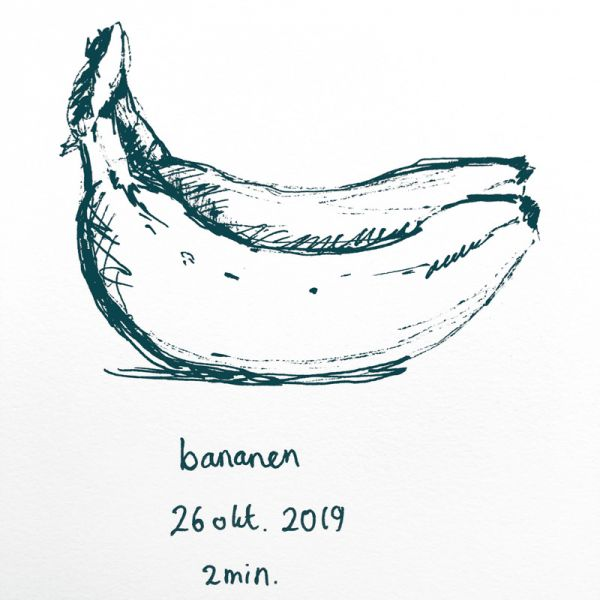 pen drawing bananas