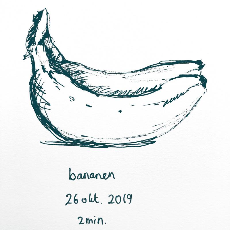 pen drawing bananas