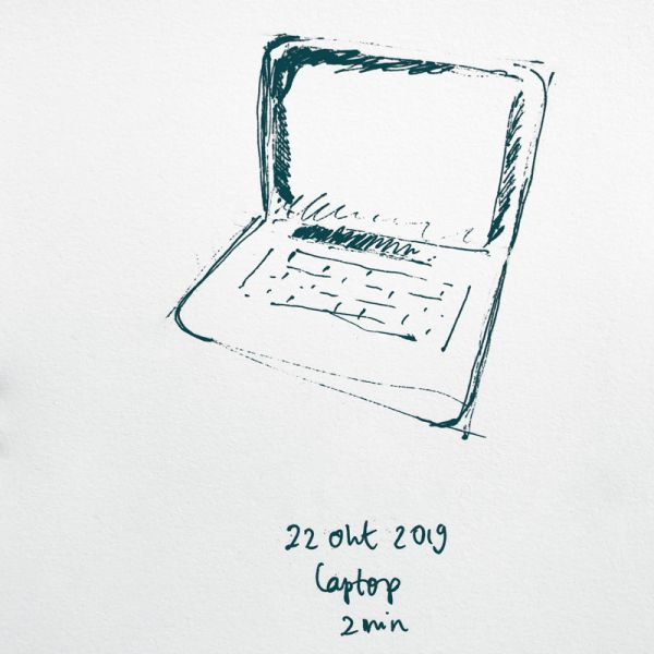 drawing laptop