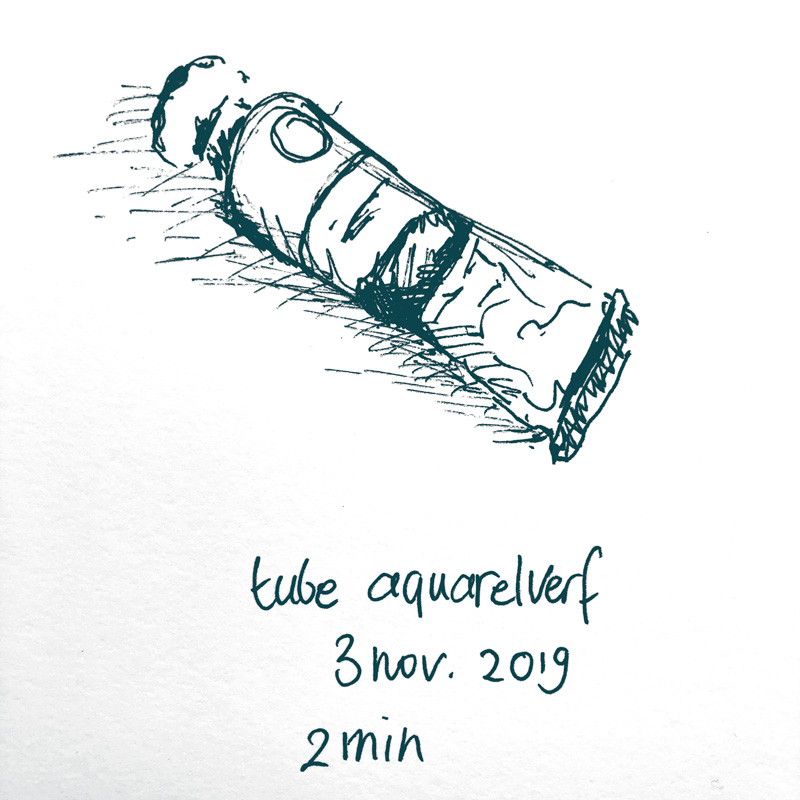 drawing tube of water colour paint
