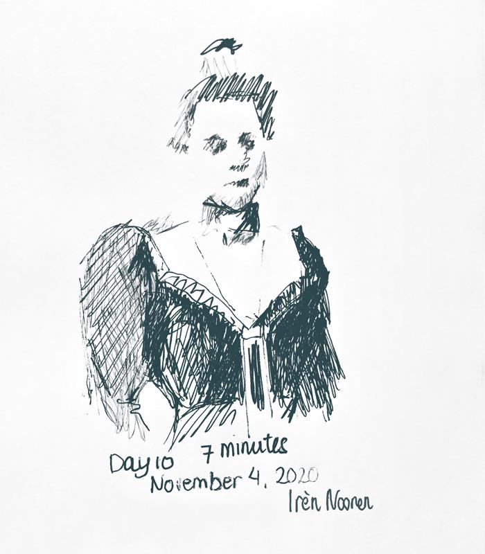 Pen drawing Great-grandmother-20201104
