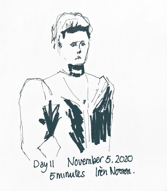 Pen drawing Great-grandmother-20201105