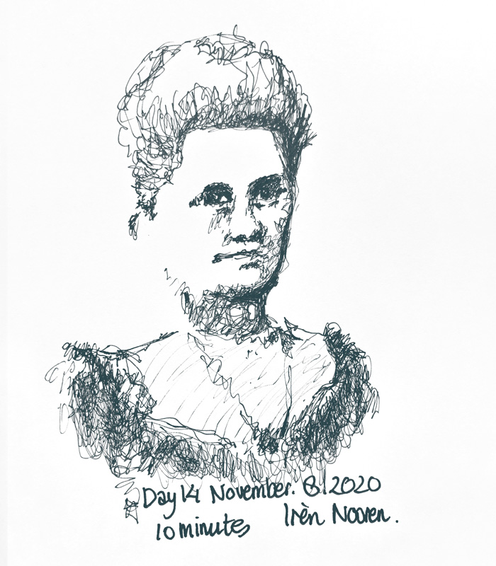Pen drawing Great-grandmother-20201108