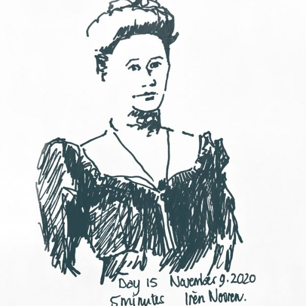 Pen drawing Great-grandmother