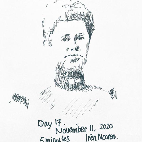 Pen drawing Great-grandmother