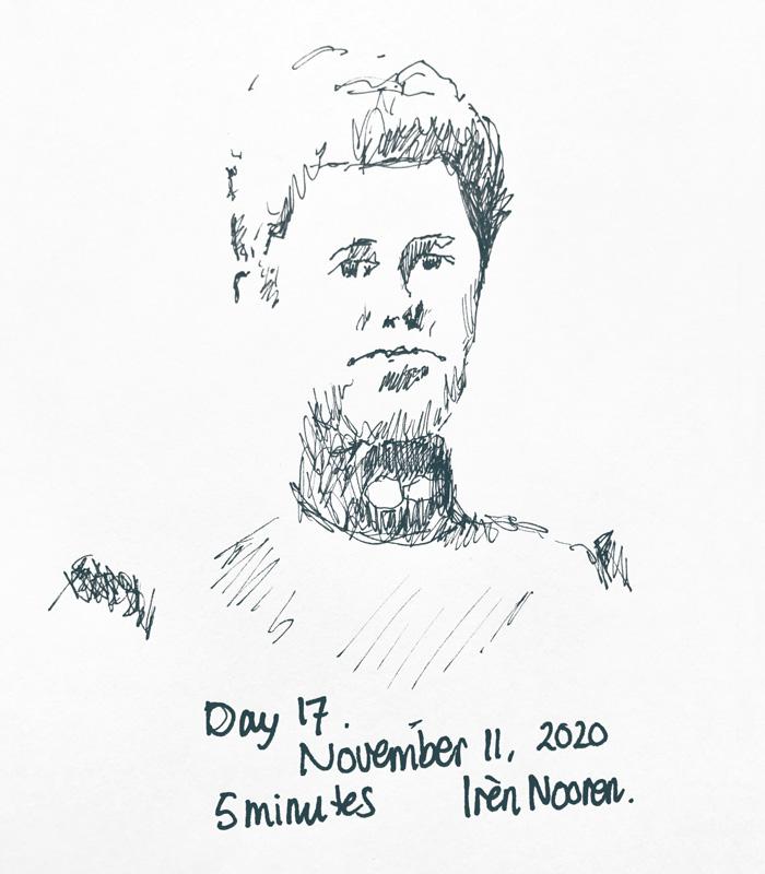 Pen drawing Great-grandmother-20201110