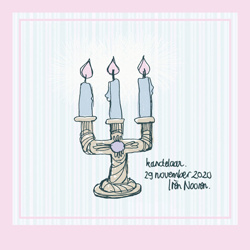 illustration candle holder