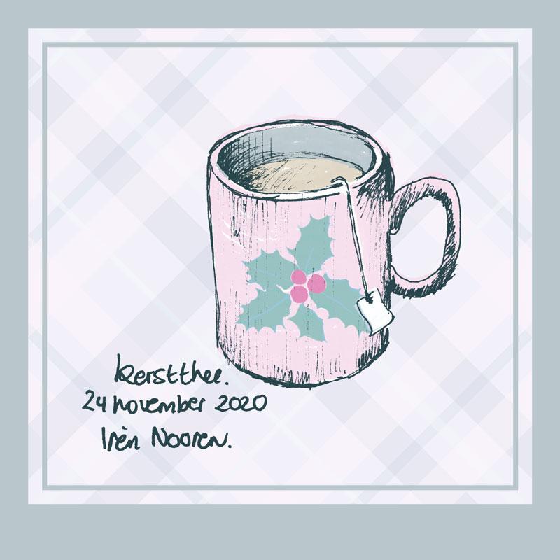 illustration christmas tea