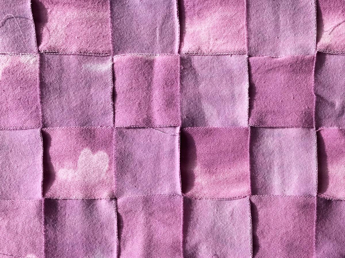 Fabric weaving closeup