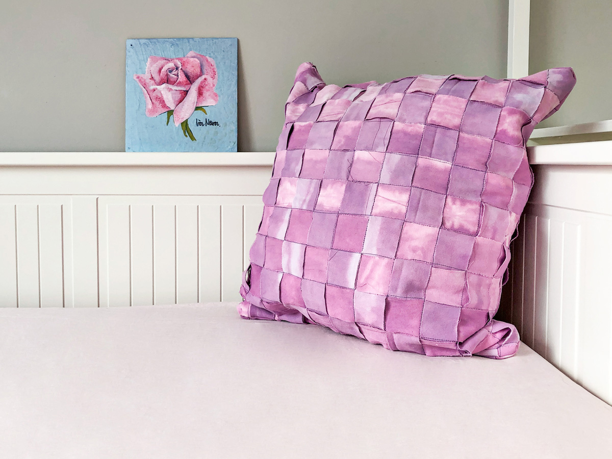 fabric weaved pillow case