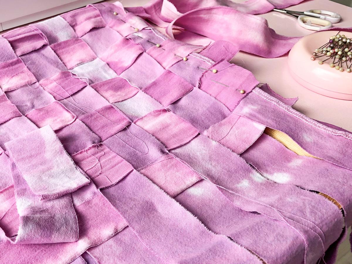 Work in progress: fabric weaving